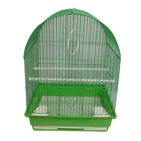 Iconic Pet Dome Top Bird Cage - Medium - Green - Iconic Pet - Dropship Direct Wholesale
