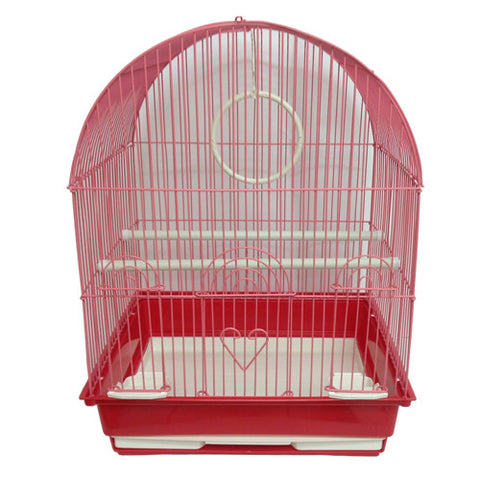 Iconic Pet Dome Top Bird Cage - Medium - Red - Iconic Pet - Dropship Direct Wholesale