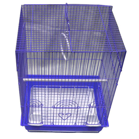 Iconic Pet - Flat Top Bird Cage - Medium - Blue - Iconic Pet - Dropship Direct Wholesale