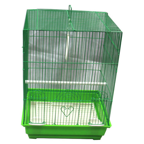 Iconic Pet - Flat Top Bird Cage - Medium - Green - Iconic Pet - Dropship Direct Wholesale