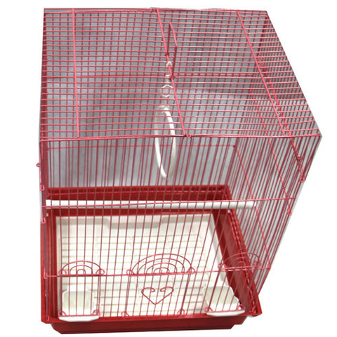Iconic Pet - Flat Top Bird Cage - Medium - Red - Iconic Pet - Dropship Direct Wholesale