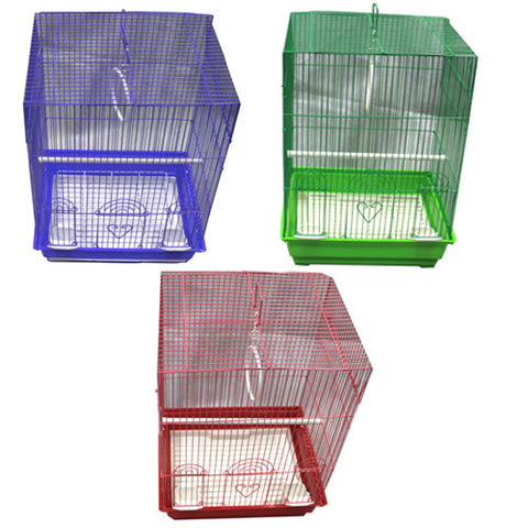 Iconic Pet - Flat Top Bird Cage (Set of 6) - Medium - Iconic Pet - Dropship Direct Wholesale