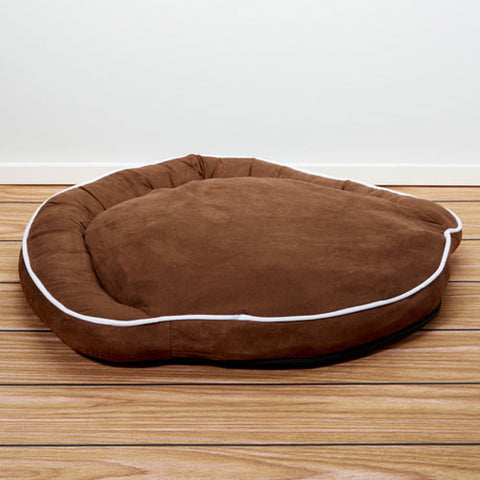 Iconic Pet - Luxury Bolster Pet Bed - Cocoa - Large - Iconic Pet - Dropship Direct Wholesale
