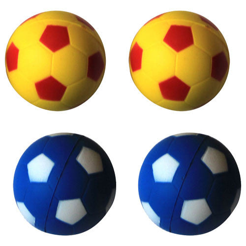 Iconic Pet Bouncing Sponge Football - 4 Pack - Yellow/Blue - Iconic Pet - Dropship Direct Wholesale