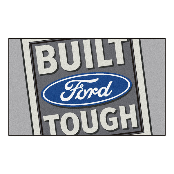 Built Ford Tough Rug 4x6 Gray - FANMATS - Dropship Direct Wholesale - 1