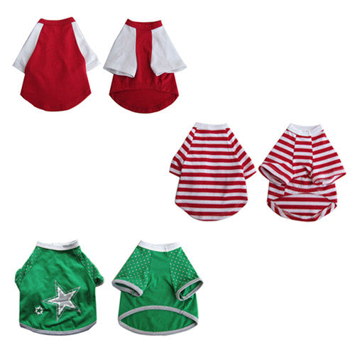 3 Pack Pretty Pet Apparel with Sleeves - Small - Iconic Pet - Dropship Direct Wholesale