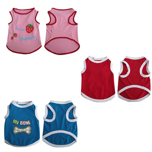 3 Pack Pretty Pet Tank Top - XX-Small - Iconic Pet - Dropship Direct Wholesale