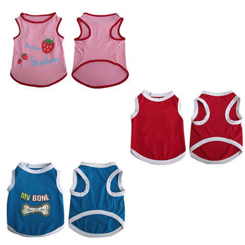3 Pack Pretty Pet Tank Top - Medium - Iconic Pet - Dropship Direct Wholesale