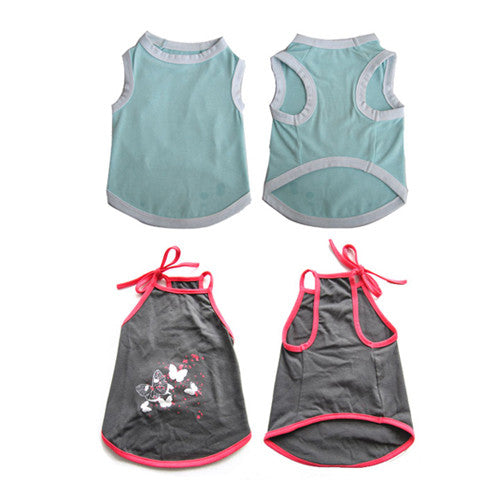 2 Pack Pretty Pet Apparel without Sleeves - XX-Small - Iconic Pet - Dropship Direct Wholesale