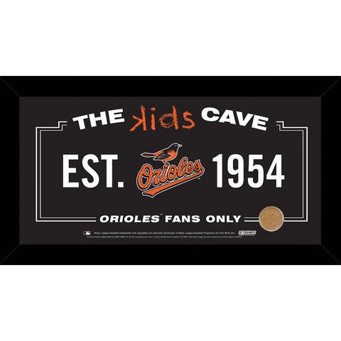Baltimore Orioles 6x12 Kids Cave Sign w Game Used Dirt from Oriole Park at Camden Yards - Steiner Sports - Dropship Direct Wholesale