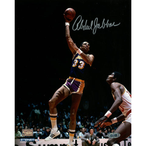 Kareem Abdul Jabbar Autographed Hook Shot 8x10 Photo (Getty 1478988) - Steiner Sports - Dropship Direct Wholesale