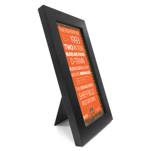 Miami Marlins Desktop Wall Hangable Subway Sign 4x8 Framed Photo - Steiner Sports - Dropship Direct Wholesale