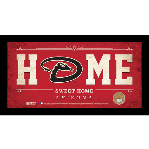 Arizona Diamondbacks 10x20 Home Sweet Home Sign with Game-Used Dirt from Chase Field - Steiner Sports - Dropship Direct Wholesale
