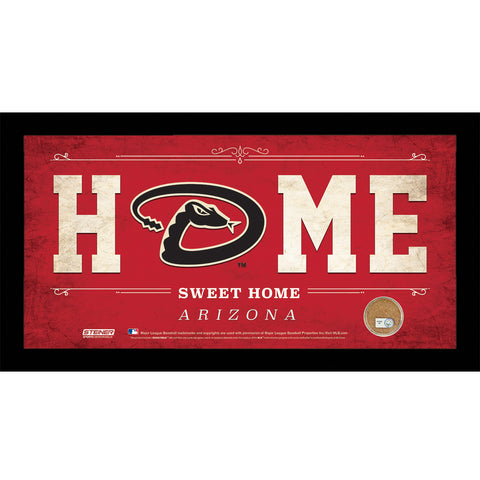 Arizona Diamondbacks 6x12 Home Sweet Home Sign with Game-Used Dirt from Chase Field - Steiner Sports - Dropship Direct Wholesale