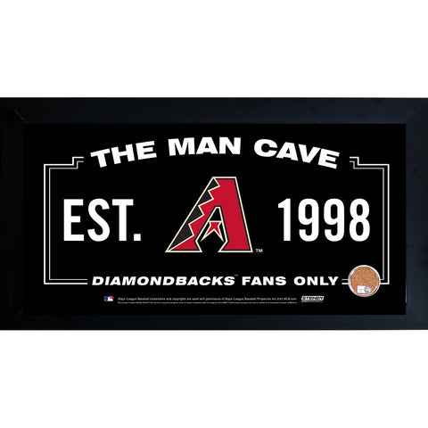 Arizona Diamondbacks Man Cave Framed 10x20 Sign w Authentic Game-Used Dirt (MLB Auth) - Steiner Sports - Dropship Direct Wholesale