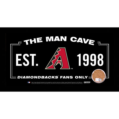 Arizona Diamondbacks Man Cave Sign 6x12 Framed Photo With Authentic Game-Used Dirt (MLB Authenticated) - Steiner Sports - Dropship Direct Wholesale