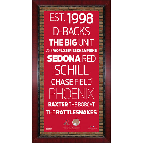Arizona Diamondbacks Subway Sign Wall Art 16x32 Frame w Authentic Dirt from Chase Field. - Steiner Sports - Dropship Direct Wholesale