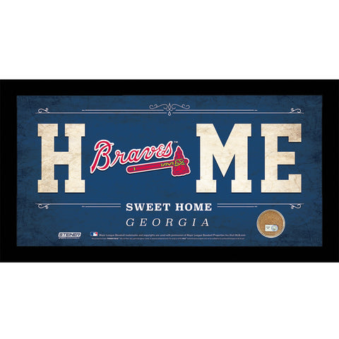 Atlanta Braves 10x20 Home Sweet Home Sign with Game-Used Dirt from Turner Field - Steiner Sports - Dropship Direct Wholesale