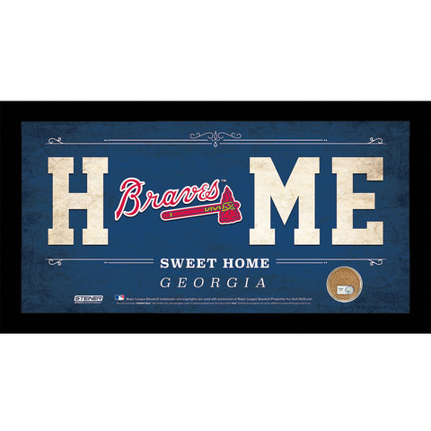 Atlanta Braves 6x12 Home Sweet Home Sign with Game-Used Dirt from Turner Field - Steiner Sports - Dropship Direct Wholesale