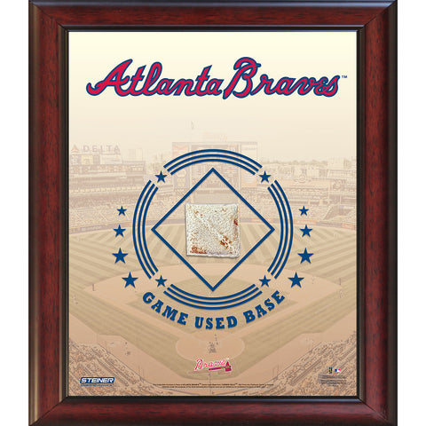 Atlanta Braves Game Used Base 11x14 Stadium Collage - Steiner Sports - Dropship Direct Wholesale