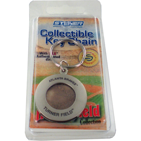 Atlanta Braves Keychain w Game Used Dirt - Steiner Sports - Dropship Direct Wholesale