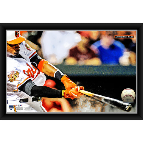 Adam Jones 20x32 Baseball Holder Display w Game-Used Baseball (baseball is removable) - Steiner Sports - Dropship Direct Wholesale
