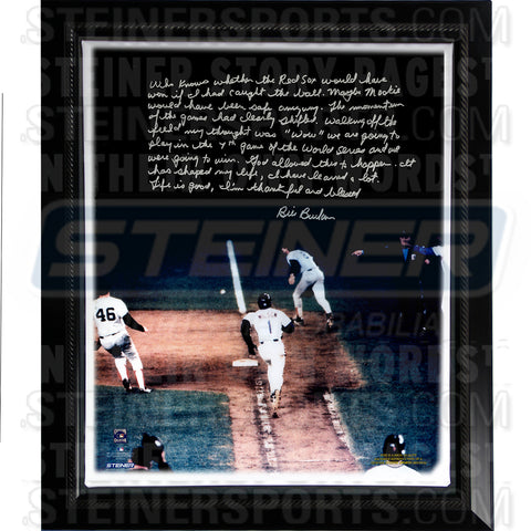 Bill Buckner Facsimile 86 World Series Error Story Stretched Framed 22x26 Story Canvas - Steiner Sports - Dropship Direct Wholesale