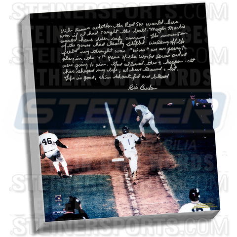 Bill Buckner Facsimile 86 World Series Error Stretched 22x26 Story Canvas - Steiner Sports - Dropship Direct Wholesale