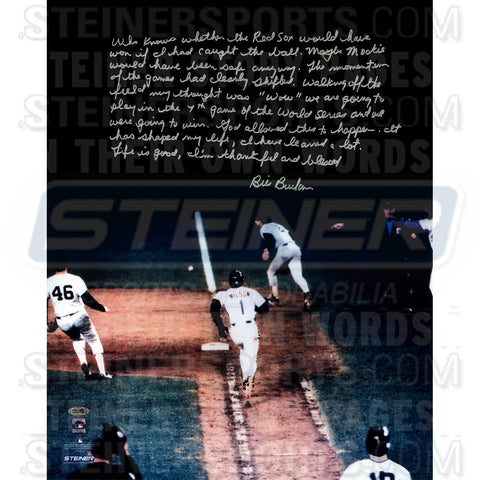 Bill Buckner Signed 1986 World Series 16x20 Story Photo - Steiner Sports - Dropship Direct Wholesale