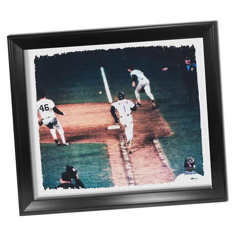 Bill Buckner Mookie Wilson Framed Stretched 32X40 Canvas - Steiner Sports - Dropship Direct Wholesale