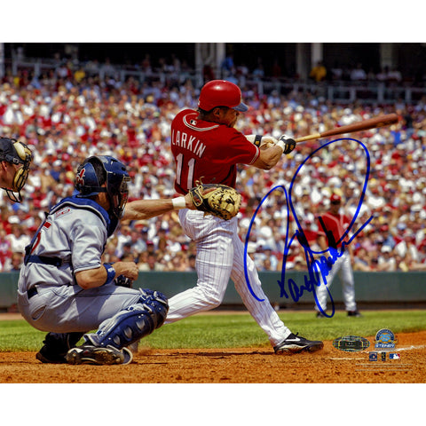 Barry Larkin Signed Horizontal Swing 8x10 Photo - Steiner Sports - Dropship Direct Wholesale
