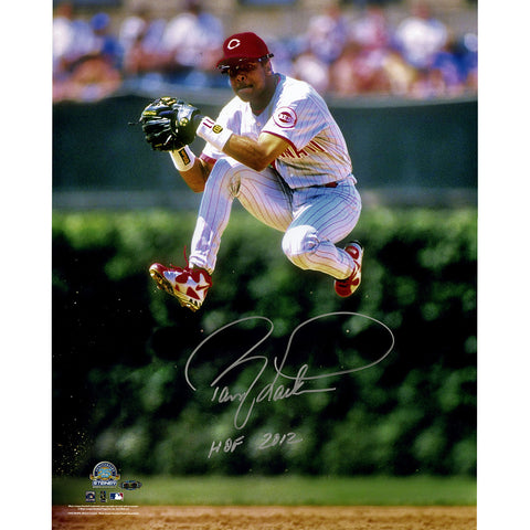 Barry Larkin Signed Jump Vertical 16x20 Photo w HOF 2012 Insc. - Steiner Sports - Dropship Direct Wholesale