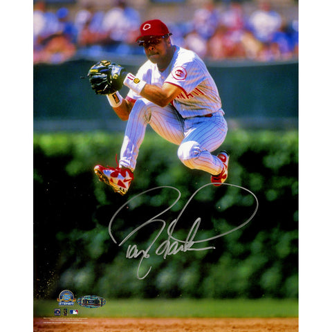 Barry Larkin Signed Jump Vertical 8x10 Photo - Steiner Sports - Dropship Direct Wholesale
