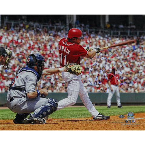 Barry Larkin Swing Horizontal 16x20 Photo w HOF 2012 Insc - Steiner Sports - Dropship Direct Wholesale