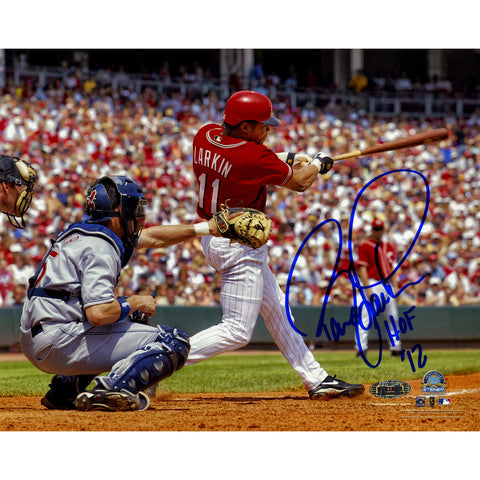 Barry Larkin Swing Horizontal 8x10 Photo w HOF 2012 Insc - Steiner Sports - Dropship Direct Wholesale