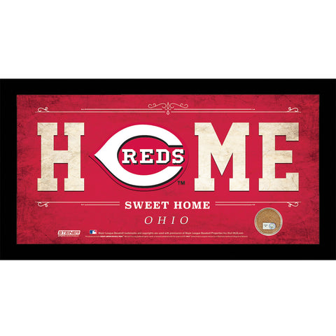 Cincinnati Reds 10x20 Home Sweet Home Sign with Game-Used Dirt from Great American Ball Park - Steiner Sports - Dropship Direct Wholesale