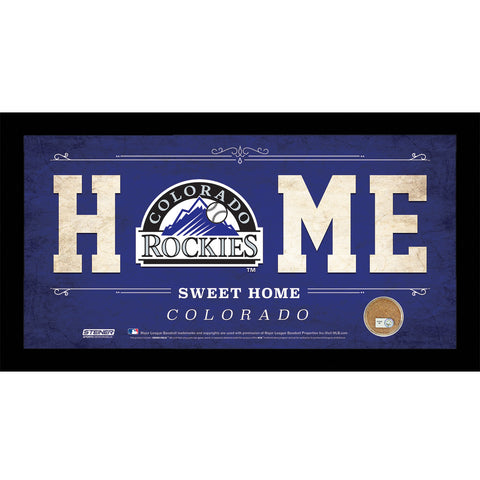 Colorado Rockies 6x12 Home Sweet Home Sign with Game-Used Dirt from Coors Field - Steiner Sports - Dropship Direct Wholesale