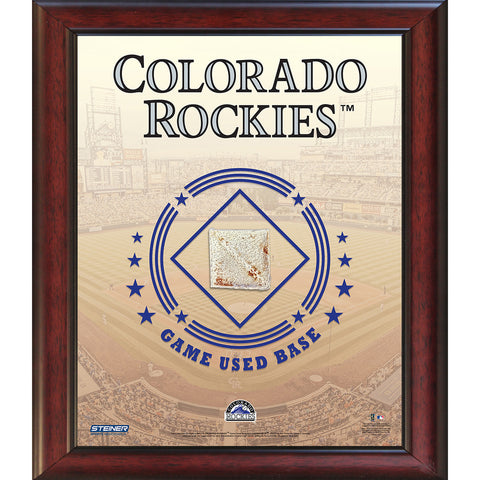 Colorado Rockies Game Used Base 11x14 Stadium Collage - Steiner Sports - Dropship Direct Wholesale