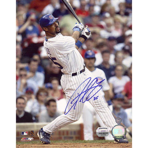 Derrek Lee Swing Cubs Pinstripe Jersey Vertical 8x10 Photo (MM Auth) - Steiner Sports - Dropship Direct Wholesale
