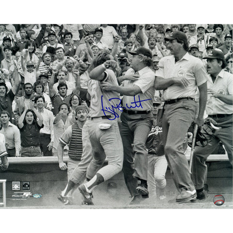 George Brett Signed B&W arguing with umpire 16x20 Photo (Brett Holo Only) - Steiner Sports - Dropship Direct Wholesale