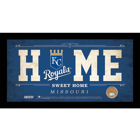 Kansas City Royals 10x20 Home Sweet Home Sign with Game-Used Dirt from Kauffman Stadium - Steiner Sports - Dropship Direct Wholesale