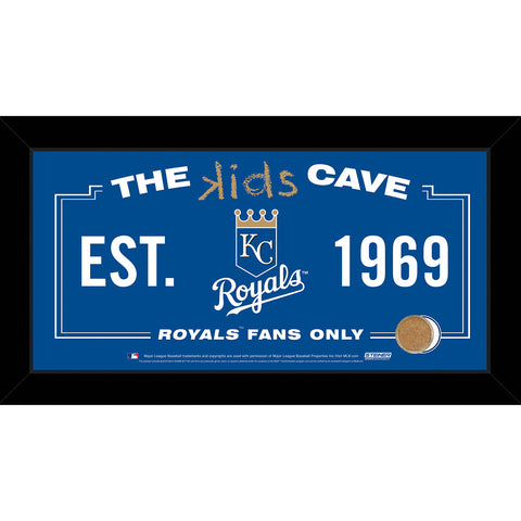 Kansas City Royals 10x20 Kids Cave Sign w Game Used Dirt from Kauffman Stadium - Steiner Sports - Dropship Direct Wholesale