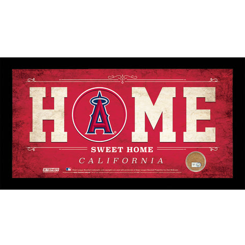 Los Angeles Angels 10x20 Home Sweet Home Sign with Game-Used Dirt from Angel Stadium of Anaheim - Steiner Sports - Dropship Direct Wholesale
