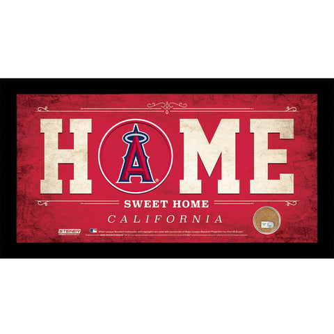Los Angeles Angels 6x12 Home Sweet Home Sign with Game-Used Dirt from Angel Stadium of Anaheim - Steiner Sports - Dropship Direct Wholesale