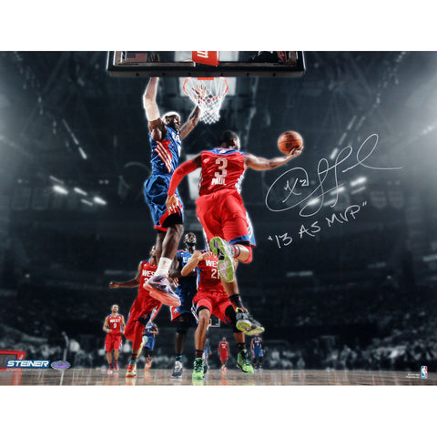 Chris Paul Los Angeles Clippers 2013 All-Star Game Signed 16x20 Photo w 2013 AS MVP Insc. - Steiner Sports - Dropship Direct Wholesale