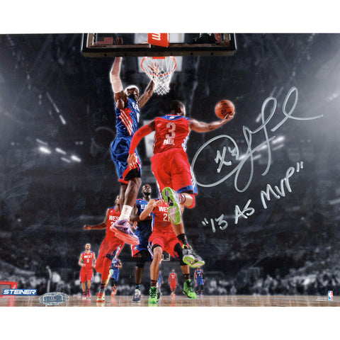 Chris Paul Los Angeles Clippers 2013 All-Star Game Signed 8x10 Photo w 2013 AS MVPInsc. - Steiner Sports - Dropship Direct Wholesale