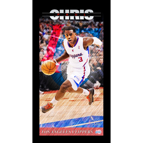 Chris Paul Los Angeles Clippers Player Profile Wall Art 9.5x19 Framed Photo - Steiner Sports - Dropship Direct Wholesale