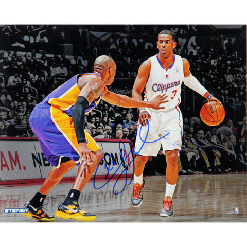 Chris Paul Los Angeles Clippers vs Kobe Bryant Signed 16x20 Photo - Steiner Sports - Dropship Direct Wholesale