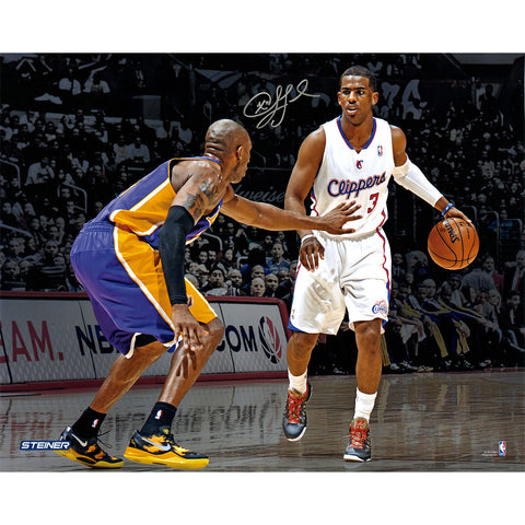 Chris Paul Los Angeles Clippers vs Kobe Bryant Signed 16x20 Photo (Signed in Silver) - Steiner Sports - Dropship Direct Wholesale