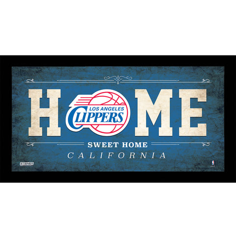 Los Angeles Clippers 6x12 Home Sweet Home Sign - Steiner Sports - Dropship Direct Wholesale
